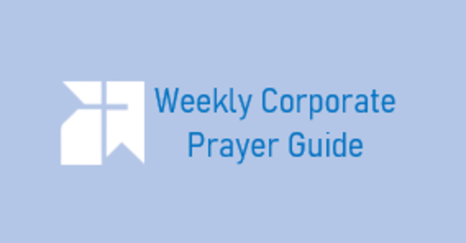 Corporate Prayers for August 22nd image