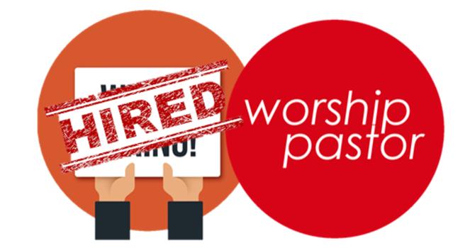 Worship Pastor Job Posting image
