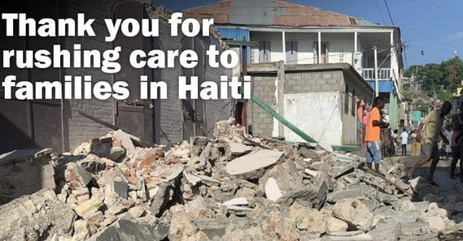 Help those affected by the earthquake in Haiti