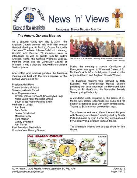 ACW June Newsletter