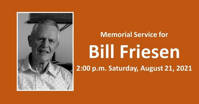 Memorial Service for Bill Friesen
