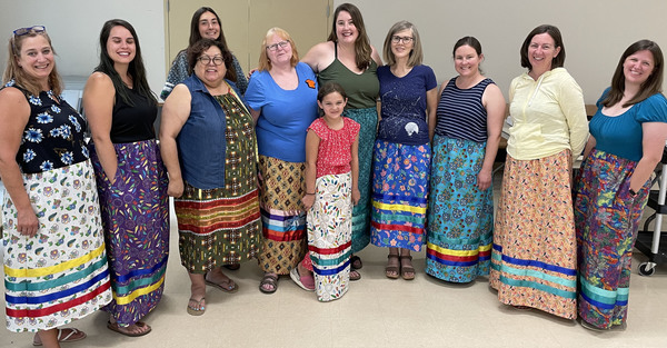 Ribbon Skirt Workshop Held at St. Faith's