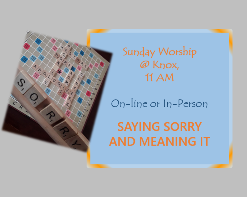 Saying Sorry and Meaning It