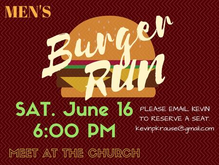 Men's Burger Run