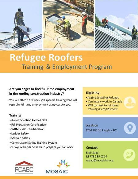 Roofing for Refugees