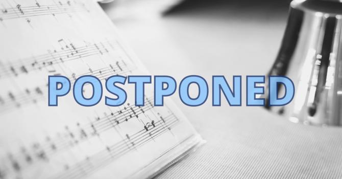 Choir and Handbells Postponed image