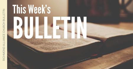 Bulletin - October 28, 2018