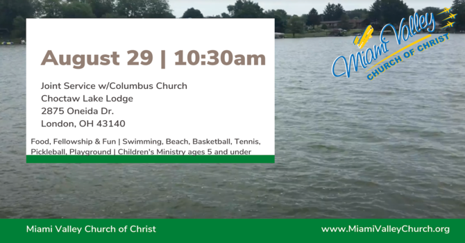 Sunday Service August 29th w/Columbus Church of Christ  image
