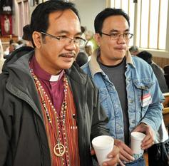 Bishop alex wandag of the episcopal diocese of santiago in the philipines and the rev wilmer toyoken