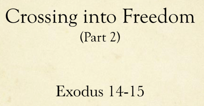 Crossing Into Freedom Part 2
