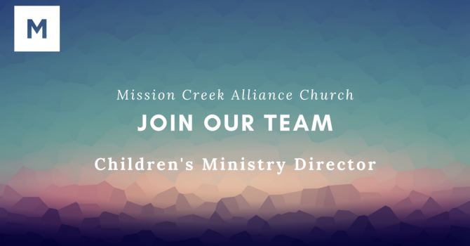 Join Our Team - Children's Ministry Director image