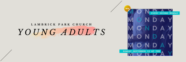 Young Adults Group · Mon Sep 13 · 7PM