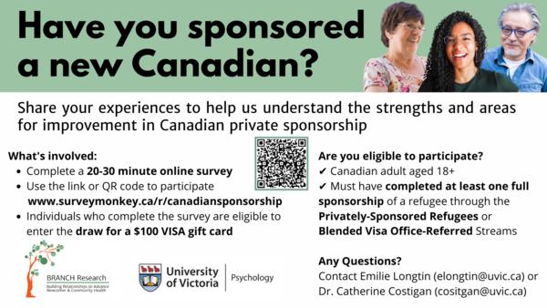 Canadian Private Sponsorship Survey