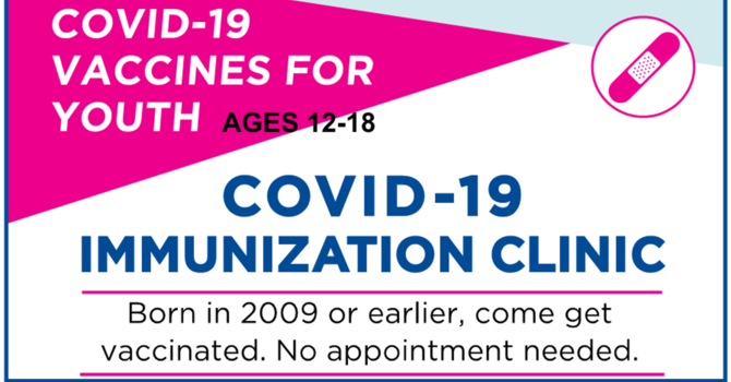 Youth COVID Vaccine Clinics in York (and surrounding area) image