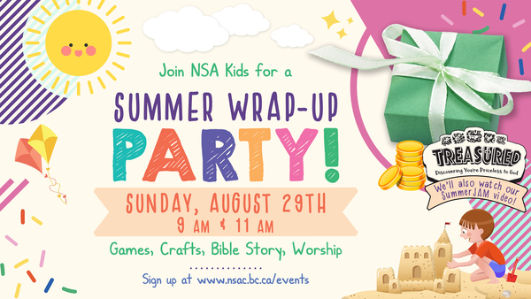 NSA Kids' Summer Wrap-up Party - Aug 29th (11 am)
