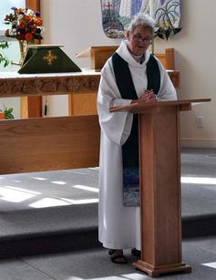 Wendy prepares to preach