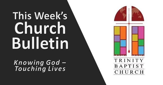 Weekly Bulletin - Aug. 29, 2021