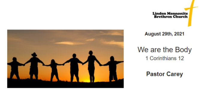 Bulletin for Sunday, August 29, 2021 image