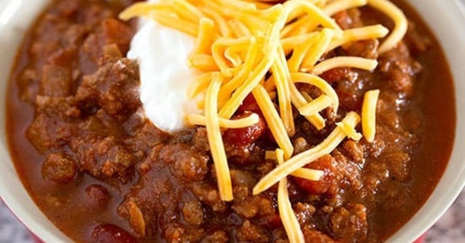 Light Source Youth Fundraiser : homemade chilli