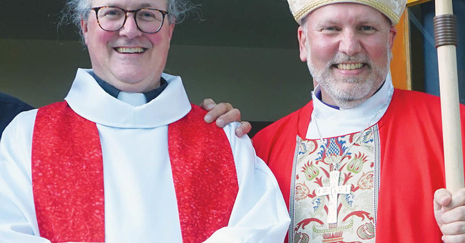 The Reverend Stephen Black was inducted Rector of St. Hilda-by-the-Sea, Sechelt  image