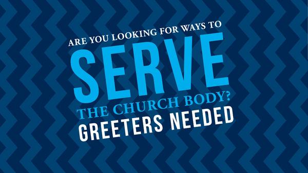 Sunday Morning Greeters Needed