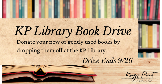 KP Library Book Drive