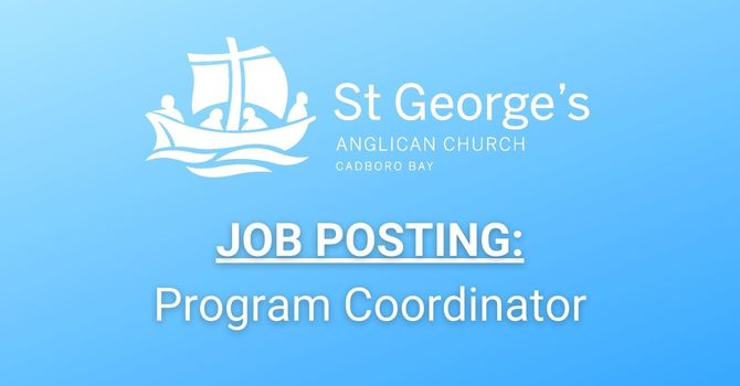 JOB POSTING: Program Coordinator at St. George's image