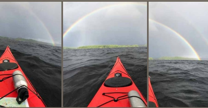 Paddling out of the storm image