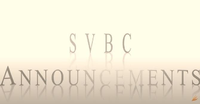 SVBC Video Announcements image