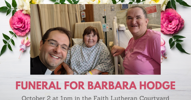 Funeral for Barbara Hodge