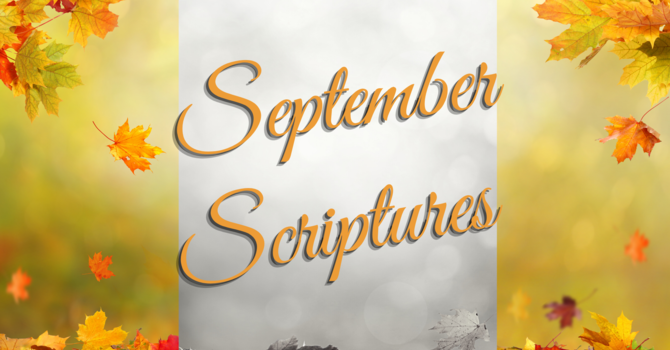 Scriptures for September image