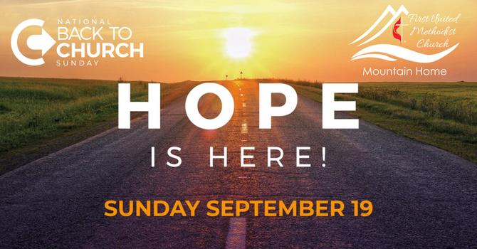National Back to Church Sunday image