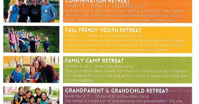 Green Lake Lutheran Ministries Fall Activities image