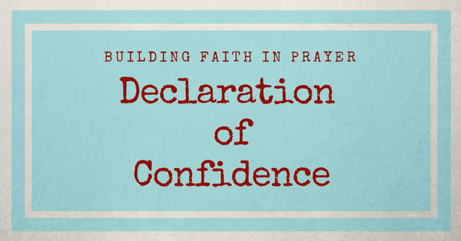 Declarations of Confidence in Christ image