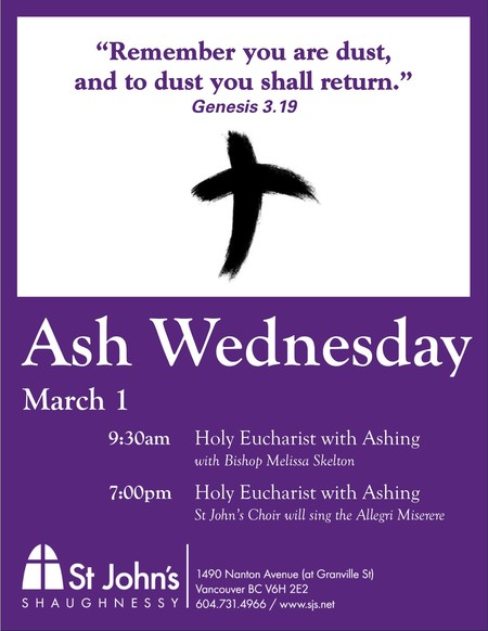 Ash Wednesday with Bishop Melissa
