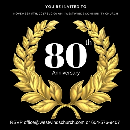 WestWinds 80th Anniversary  November 5th 10am
