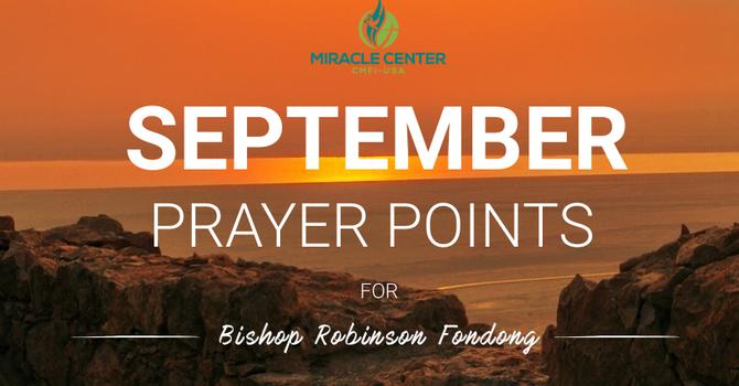 September Prayer Points for Bishop Robinson