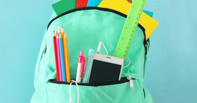 Blessing of the Backpacks:  September 5th image