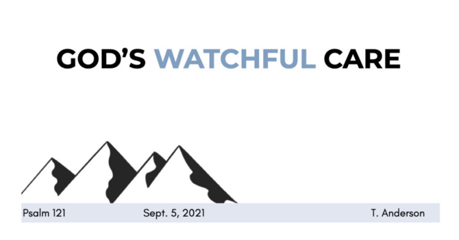 God's Watchful Care