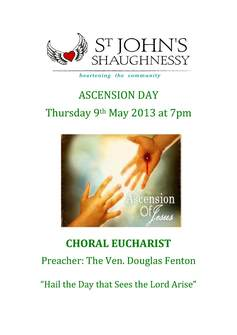 Ascension day advert