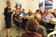Bishop melissa speaking at the april 17th maundy thursday dinner