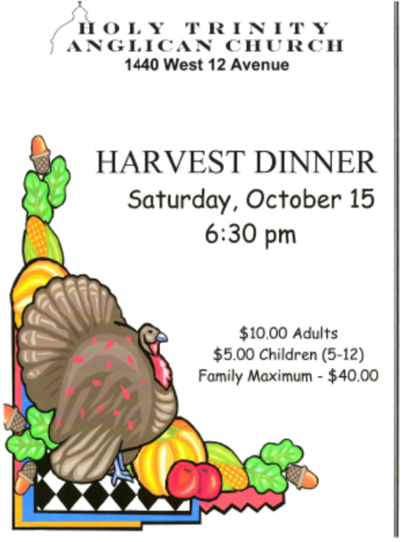 Harvest Thanksgiving Dinner