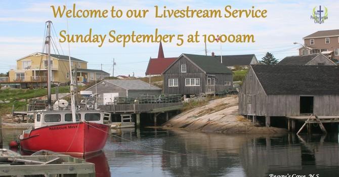 Sunday September 5 Livestream Service