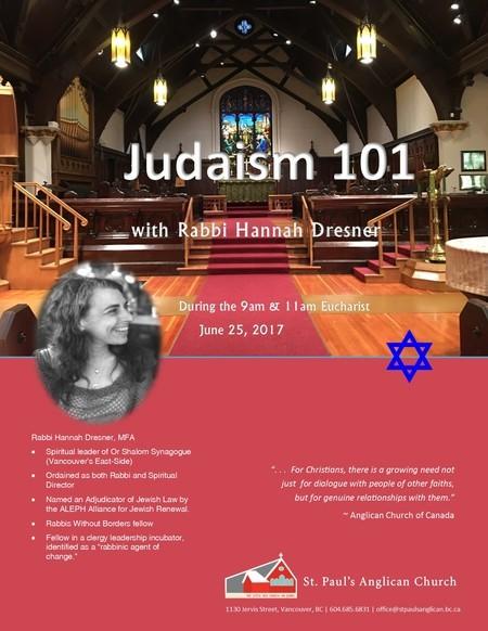 Rabbi Hannah Dresner at Sunday Services