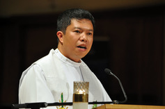 The rev. louie engnan preaching at ccc november 24th 2013 evensong