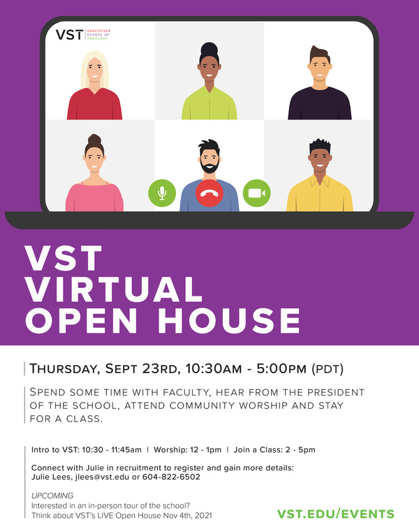 Vancouver School of Theology virtual open house