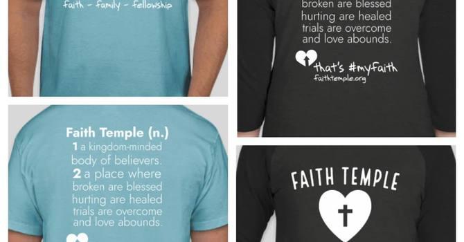 Faith Temple Tees - Now Available image