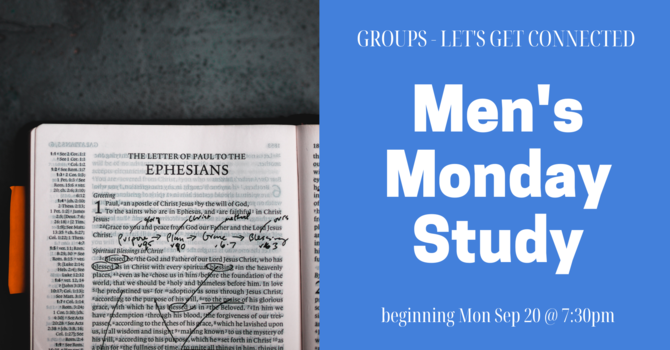 GROUPS: Men's Monday Study