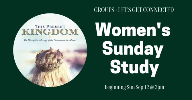 GROUPS: Women's Sunday Study