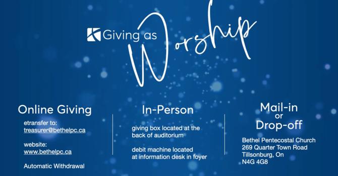 Worship as Giving image